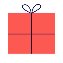 Winter red gift flat