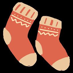 Calcetines rojos de invierno planos