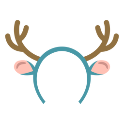 Winter reindeer headband flat