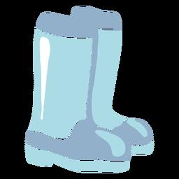 Botas de borracha de inverno planas