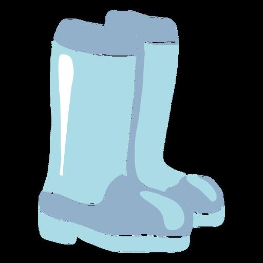 Winter rubber boots flat