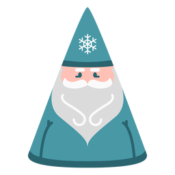 Winter santa claus flat
