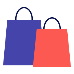Winter shopping bags flat