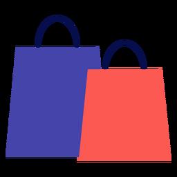 Winter shopping bags flat