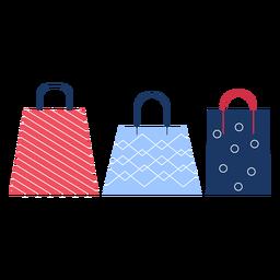 Invierno bolsas de compras invierno plano
