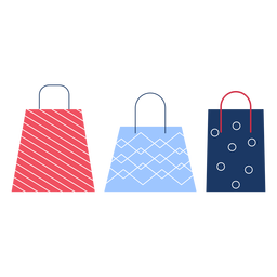 Winter shopping bags flat winter