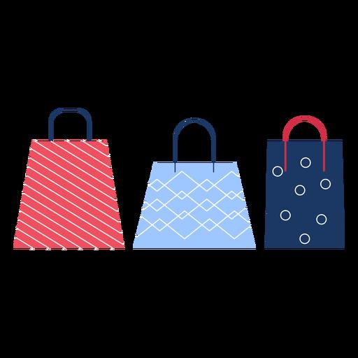 Winter shopping bags flat winter