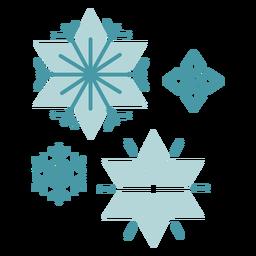 Copos de nieve de invierno plana