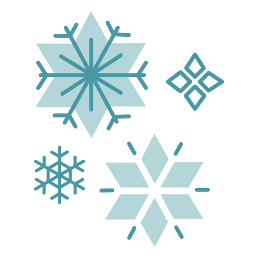 Winter snowflakes flat Transparent PNG
