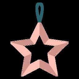 Juguete de árbol de Navidad estrella de invierno plano