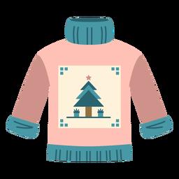 Winter sweater flat
