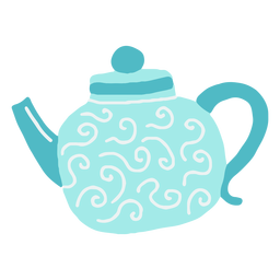 Winter teapot flat