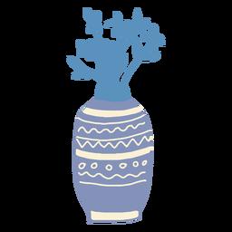 Florero de invierno plano
