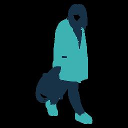 Carácter de bolso de mujer de invierno