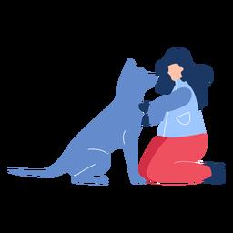 Invierno mujer perro plana