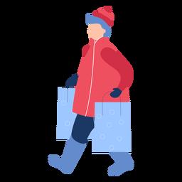 Sacos de compras de inverno mulher planas
