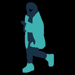 Personagem de três quartos de inverno mulher