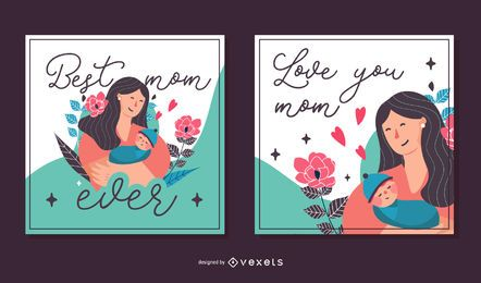 Mother's Day Square Card Pack