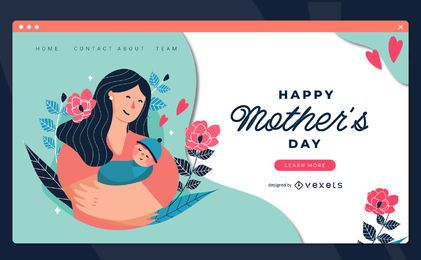 Mothers day landing page template