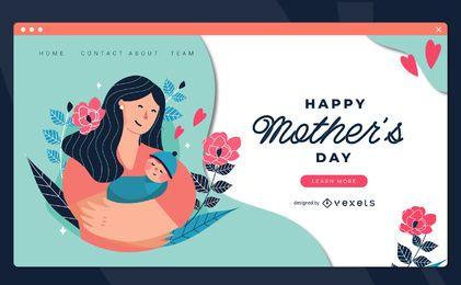 Plantilla de página de destino del día de la madre