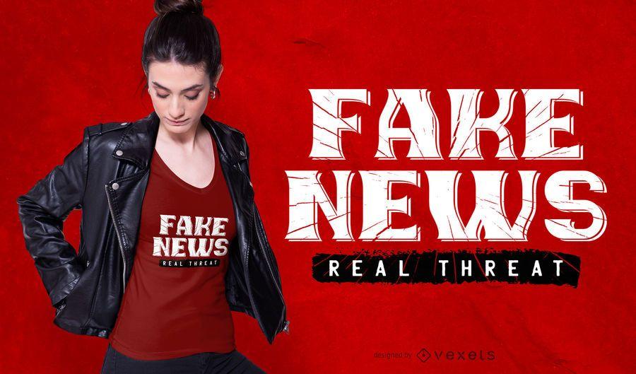 Fake News Real Threat T-shirt Design