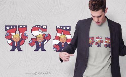 Diseño de camiseta de dibujos animados de Trump de Estados Unidos