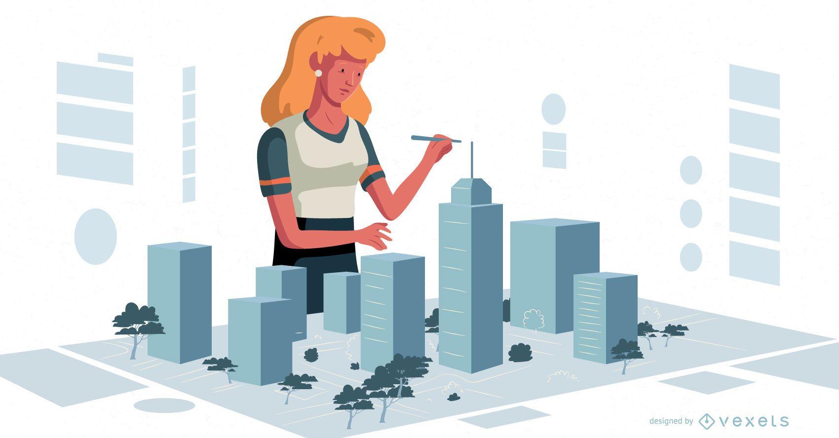 Female Urbanist Character Design