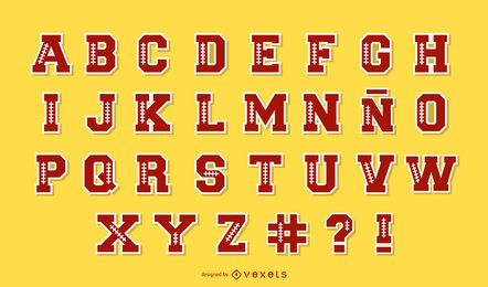 Football Alphabet Letter Pack