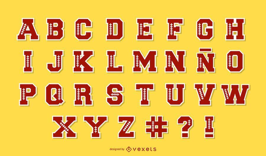 Paquete de letras del alfabeto de fútbol