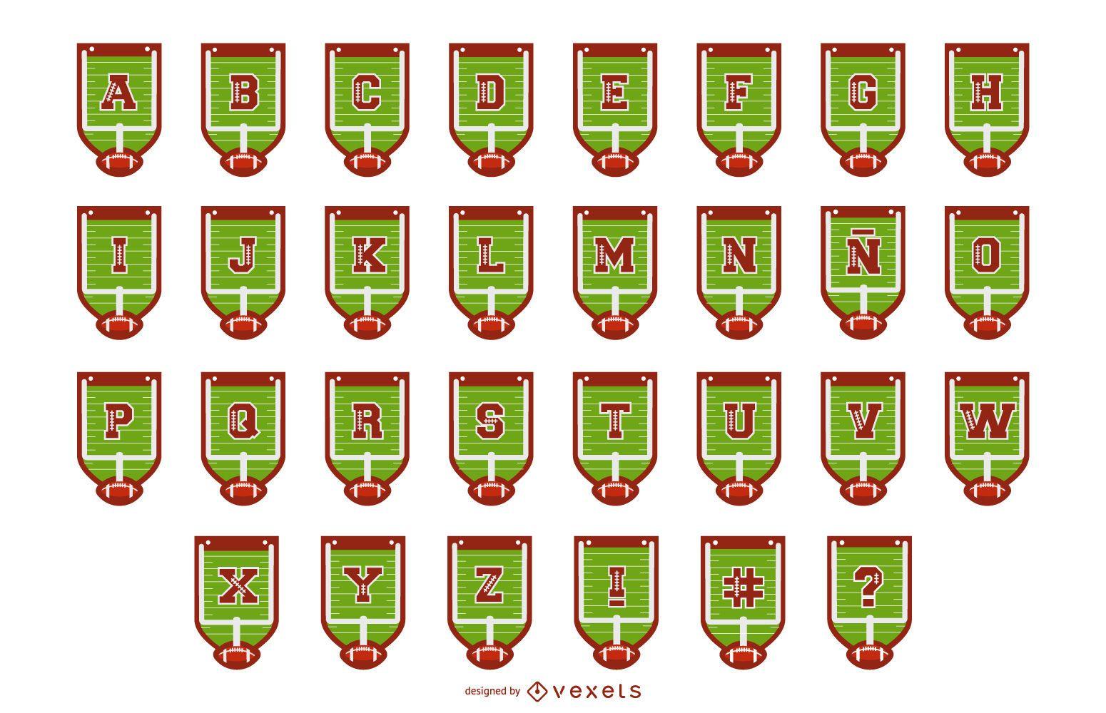 Football Alphabet Banner Letter Pack