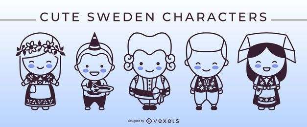 Pacote de caracteres Stroke Style Sweden