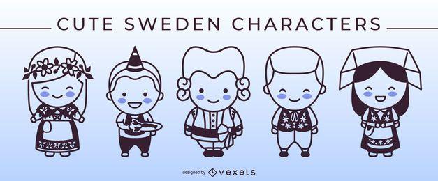 Paquete de caracteres Stroke Style Sweden