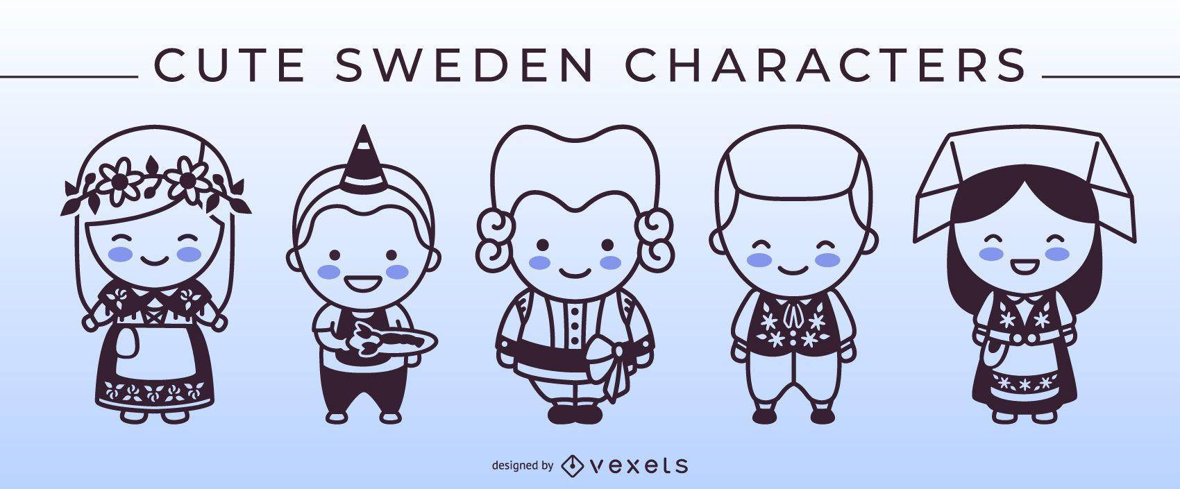 Paquete de personajes de Stroke Style Sweden