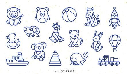 Pacote de Design de Brinquedo de Curso Simples