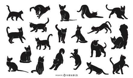 Cat Silhouette Design Pack