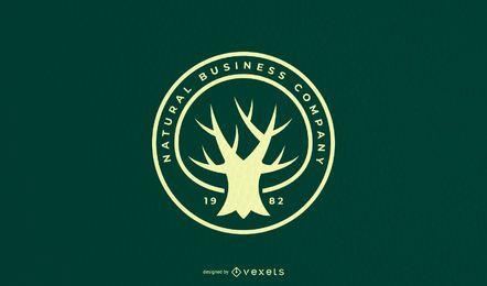 Design de logotipo de citação de árvore
