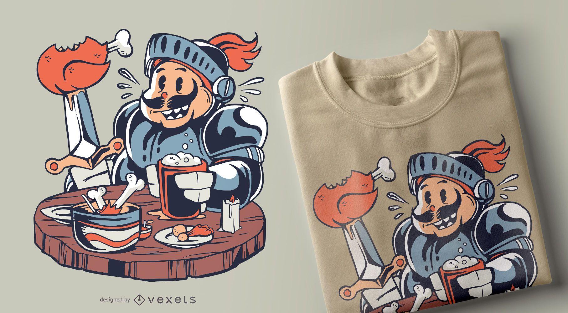 Diseño de camiseta de caballero gordo