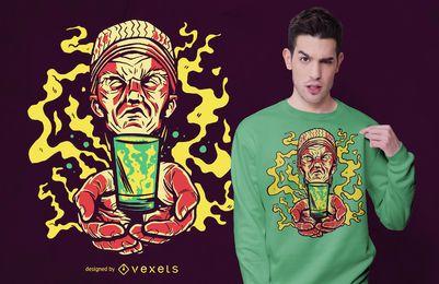 Diseño de camiseta de ayahuasca