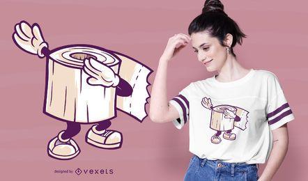 Diseño de camiseta de papel higiénico.