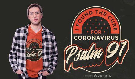 Cura para o design de t-shirt de coronavírus