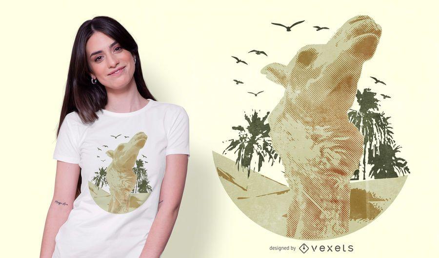 Realistic Camel T-shirt Design
