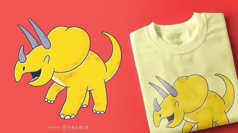 Cute Triceratops T-shirt Design