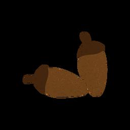 Acorn textured illustration