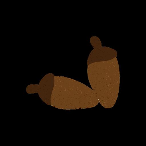 Acorn textured illustration Transparent PNG