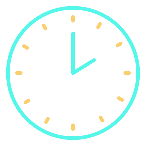 Analog clock icon Transparent PNG