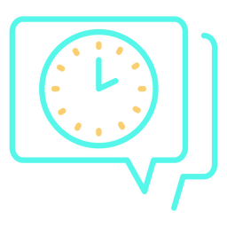 Analog clock speech bubble icon