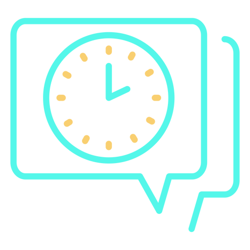 Analog clock speech bubble icon Transparent PNG