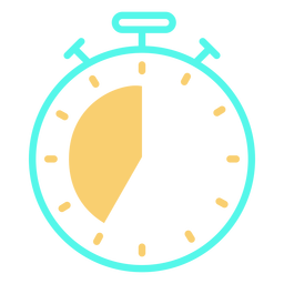Analog stopwatch timer icon stroke