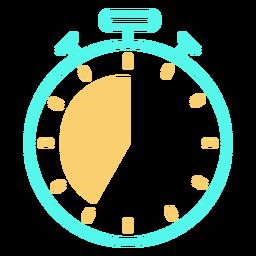 Trazo de icono de cronómetro analógico