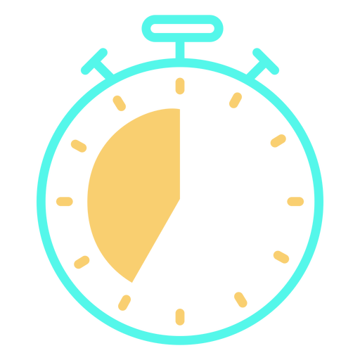 Analog stopwatch timer icon stroke Transparent PNG